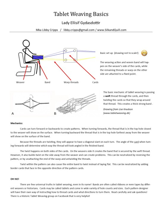 Tablet weaving basics1